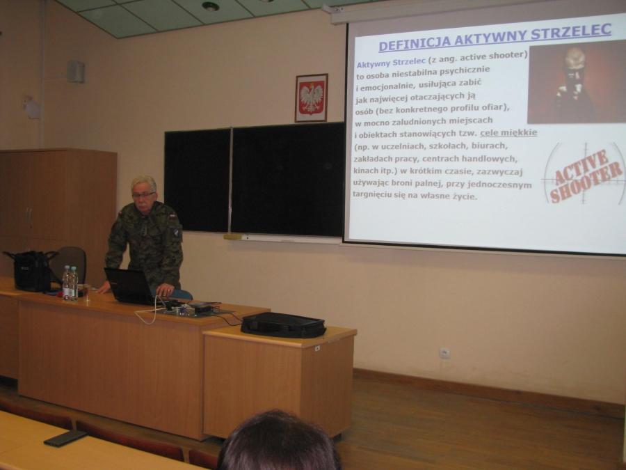 image: Active shooter - wykład płk dypl. inż. Marka Sielskiego...
