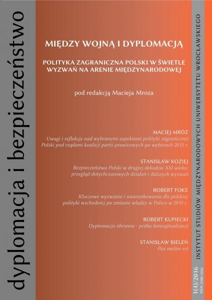 image: Dyplomacja i Bezpieczeństwo: czwarty numer periodyku Zakładu Polityki Zagranic...